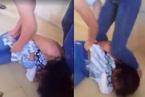 Nữ sinh lớp 8 đánh nhau lột áo ngay trong lớp học