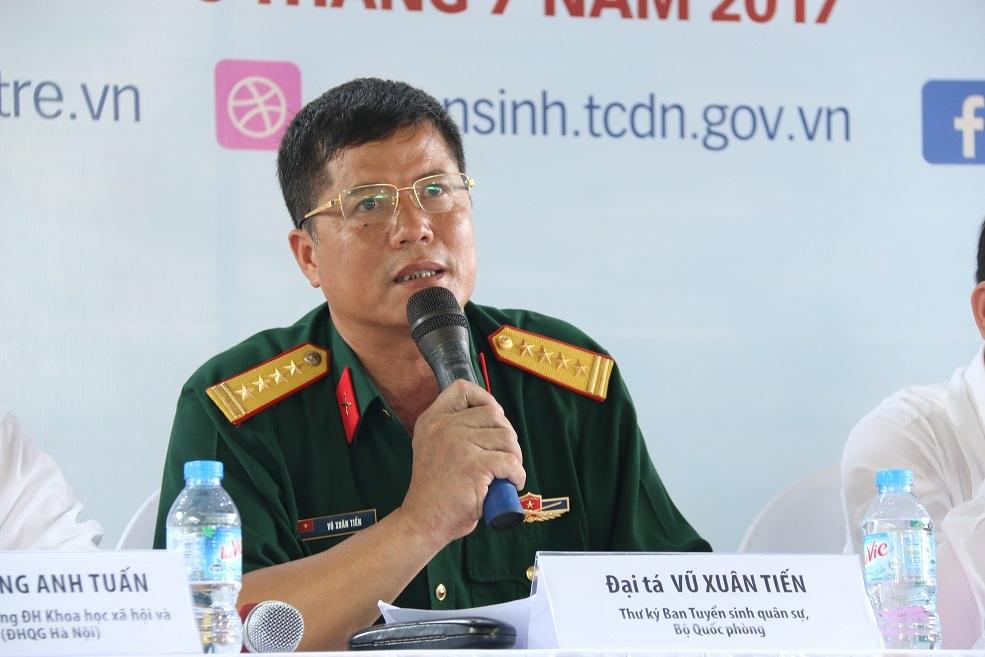 Điểm trúng tuyển các trường quân đội sẽ không thấp hơn năm 2016