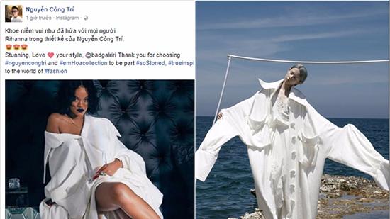 Rihanna chọn thiết kế 'Em Hoa' của Công Trí
