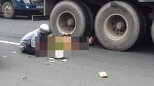 Người phụ nữ bị xe container cuốn vào gầm tử vong