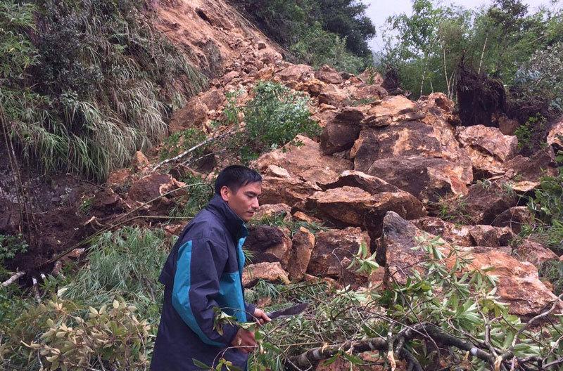 Sạt lở lớn ở Lai Châu, quốc lộ 4D tê liệt