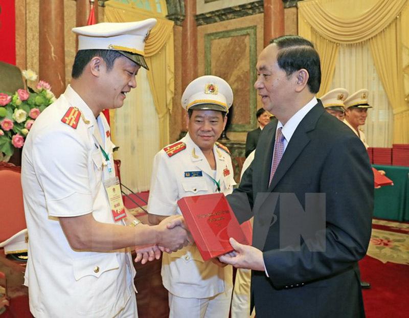 Chủ tịch nước Trần Đại Quang, Trần Đại Quang, cảnh sát nhân dân