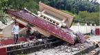 Đá lăn đè sập thượng đình nghĩa trang thờ 33 liệt sĩ