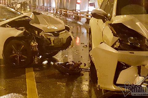 tai nạn 3 người chết cầu chương dương
