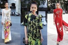 Ngọc Châu Next Top biến hóa với các kiểu áo dài hoa
