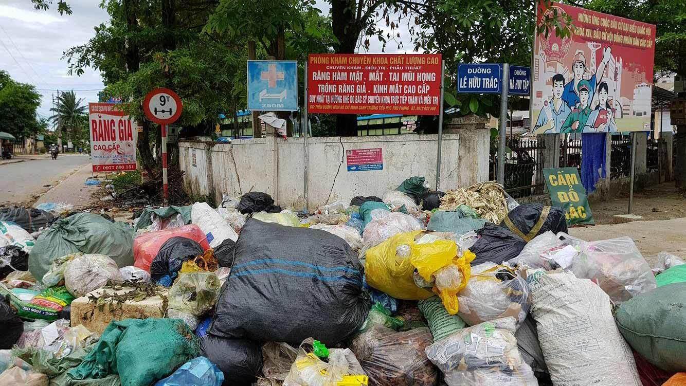 ô nhiễm môi trường, hà tĩnh, rác thải
