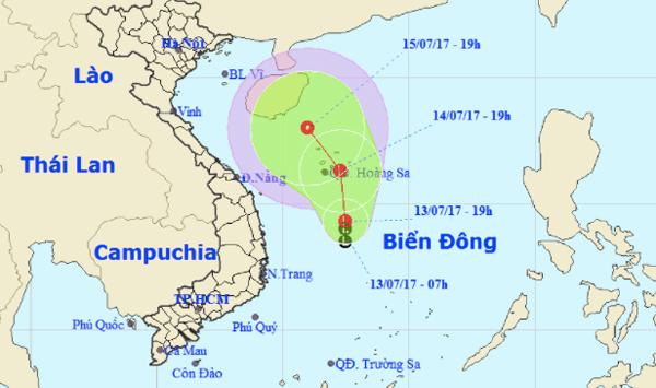 Áp thấp xuất hiện trên biển Đông