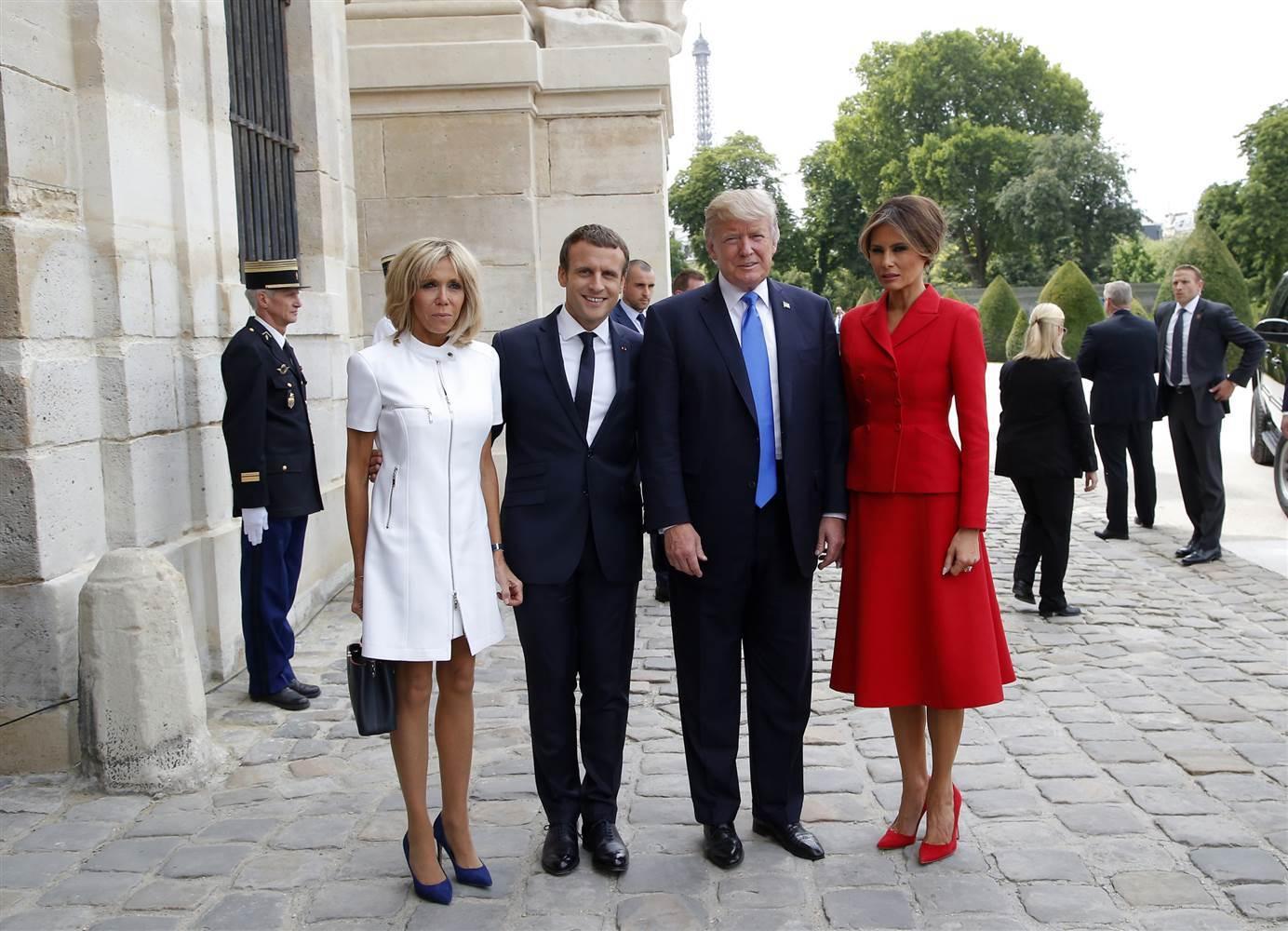 Tổng thống Mỹ,Donald Trump,Đệ nhất phu nhân,Brigitte Macron