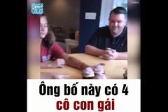 Phản ứng của ông bố khi biết đứa thứ 5 lại là con gái