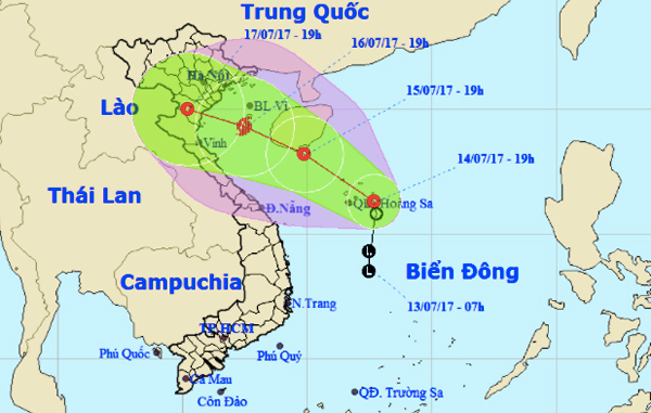 Áp thấp có thể mạnh thành bão đổ bộ Hải Phòng - Nghệ An