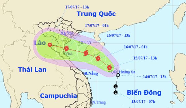 Bão số 2 giật cấp 10 hướng Thanh Hóa - Hà Tĩnh