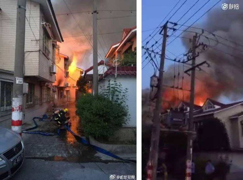 hỏa hoạn, cháy nhà, Trung Quốc,phi công thiệt mạng