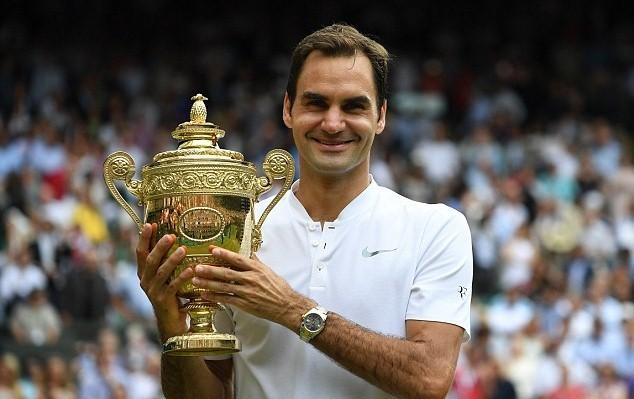 Federer lập kỷ lục 8 lần vô địch Wimbledon