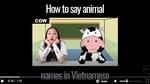 Cô gái dạy đọc tên động vật bằng tiếng Việt cực độc đáo