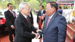 Lãnh đạo cấp cao Việt - Lào trao đổi điện mừng