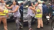 Người phụ nữ thóa mạ, giằng co với CSGT trên phố Sài Gòn