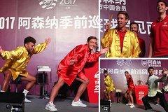 Sao Arsenal múa võ kungfu trên đất Trung Quốc