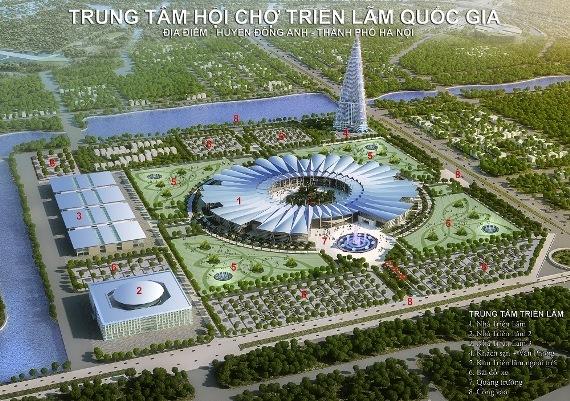 Trung tâm triển lãm Quốc gia, hội chợ Giảng Võ, Quy hoạch Hà Nội