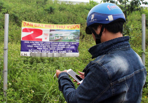 đất sân bay, sân bay Long Thành, phân lô bán nền, Đồng Nai