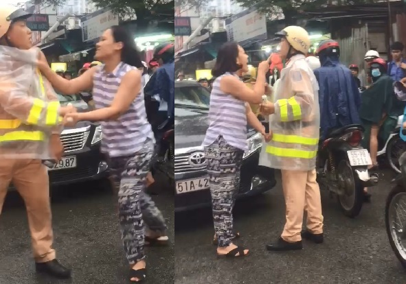 Lời khai nữ tài xế nắm cổ áo, chửi bới CSGT trên phố Sài Gòn