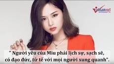 Miu Lê: Người yêu của tôi phải lịch sự, sạch sẽ!
