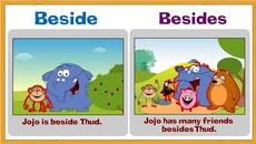 """Phân biệt """"beside"""" và """"besides"""""""