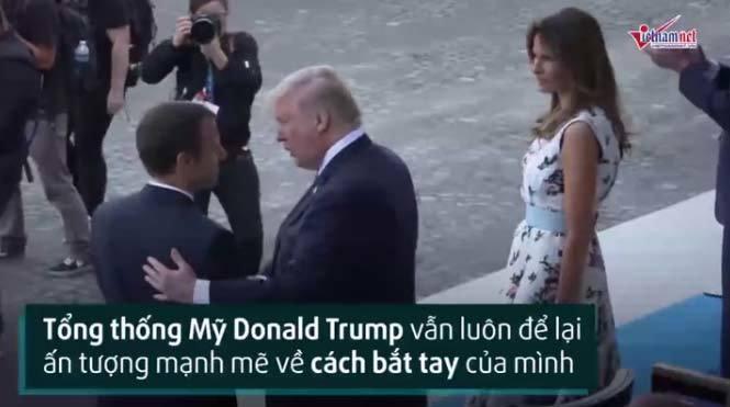 Giải mã kiểu bắt tay của Tổng thống Trump