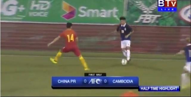 U23 Campuchia gây địa chấn khi cầm hòa Trung Quốc