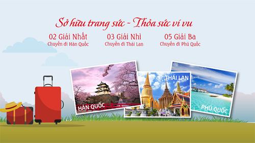 Trang sức DOJI ưu đãi 23%, tặng cơ hội du lịch châu Á