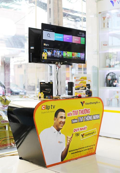 Truyền hình Clip TV chính thức 'lên kệ' tại hơn 200 cửa hàng Viễn thông A