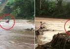 Người đi xe máy bị cuốn trôi khi cố vượt qua đập tràn