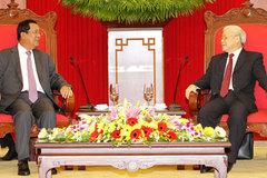 Tổng bí thư hội kiến Thủ tướng Campuchia