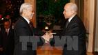 Quốc vương Campuchia mở Quốc yến chào mừng Tổng bí thư