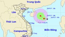 Áp thấp nhiệt đới trên biển Đông đang mạnh lên