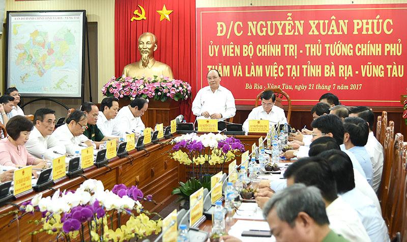Thủ tướng mong Bà Rịa-Vũng Tàu không bằng lòng với những ước mơ nhỏ