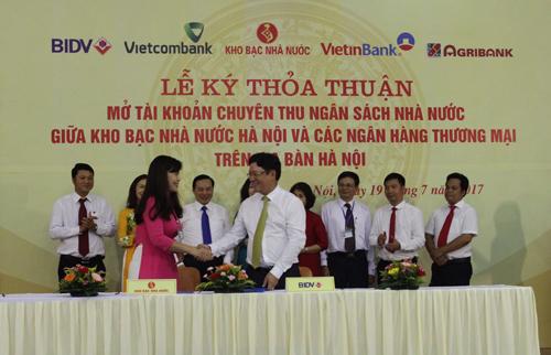 BIDV phối hợp thu ngân sách nhà nước địa bàn Hà Nội