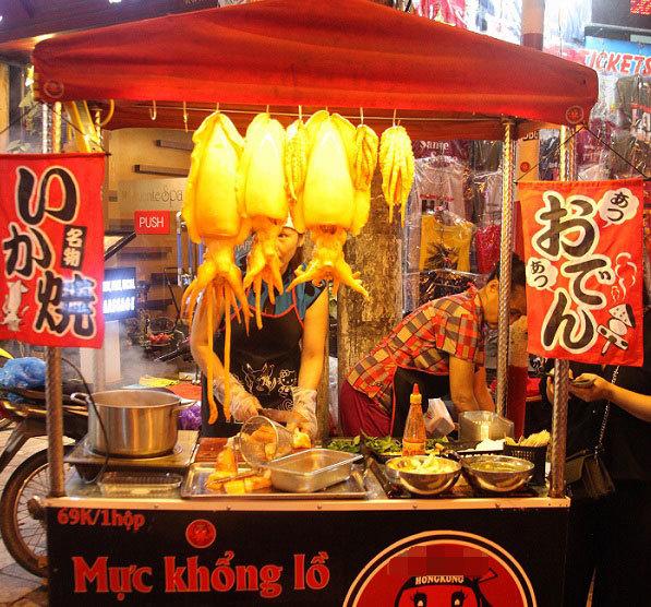 đồ ăn vặt,món ăn ở Hà Nội,kinh doanh theo trào lưu,đồ ăn độc lạ