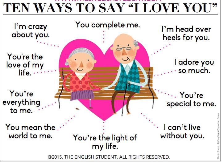 10 cách nói 'Tôi yêu em' trong tiếng Anh