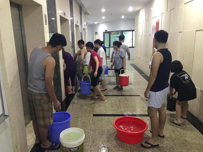 đường ống nước sông Đà, mất nước, Linh Đàm, Hud3 Linh Đàm