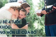Cậu bé 4 tuổi òa khóc trước chia sẻ của mẹ kế trong hôn lễ