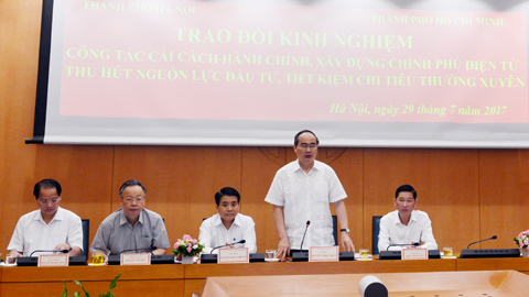 Chủ tịch Hà Nội, Bí thư TP.HCM, Nguyễn Đức Chung, Nguyễn Thiện Nhân, cải cách hành chính