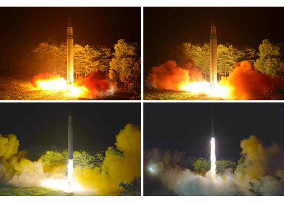 Khoảnh khắc tên lửa liên lục địa Triều Tiên rời bệ phóng