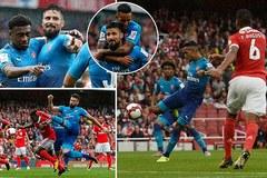 """Walcott và Giroud """"lên đồng"""", Arsenal đè bẹp Benfica"""