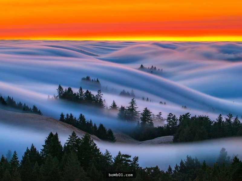 10 bức ảnh sóng sương mù đẹp như trong cổ tích