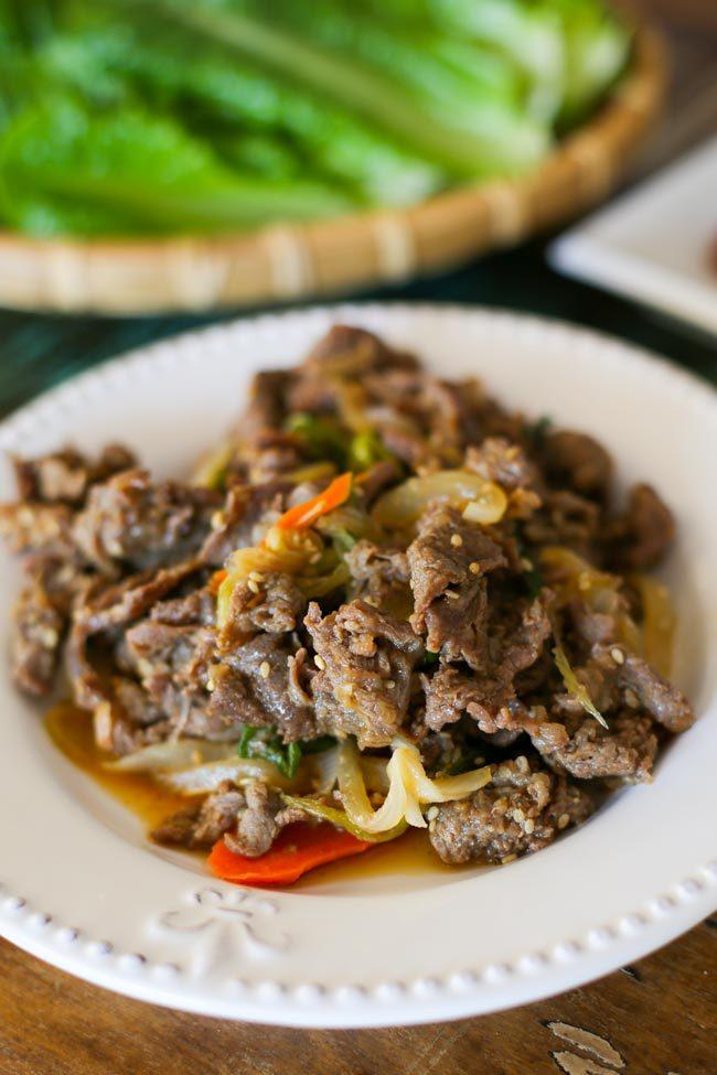 Thịt bò xào kiểu Hàn cực tốn cơm