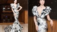 MC U50 Thanh Mai siêu gợi cảm với đầm khoét ngực sâu