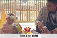 Ông bố đảm đang và những tuyệt chiêu chăm em bé khiến chị em ganh tị