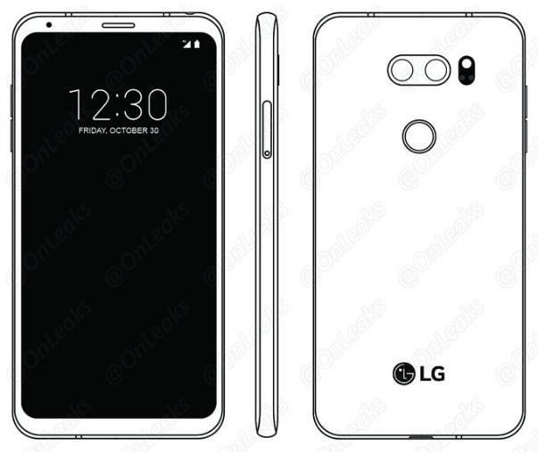 LG V30 lộ mặt lưng kim loại sáng bóng, camera f/1.6