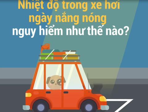 Nhiệt độ trong ôtô ngày nắng nóng nguy hiểm như thế nào?