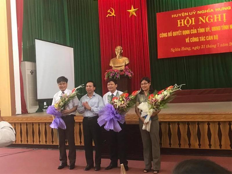 Nhân sự mới Lạng Sơn, Nam Định